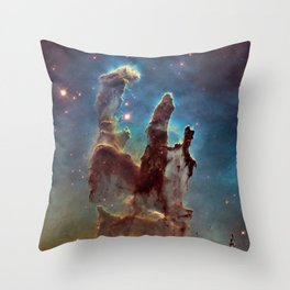 Pillars of Creation- NASA Hubble Telescope Image Throw Pillow