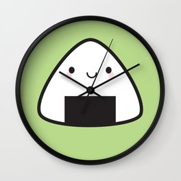 Kawaii Onigiri Rice Ball Wall Clock