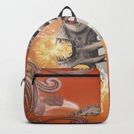 Skull with soccer Backpack