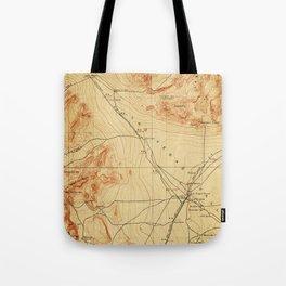 Vintage Map of The Las Vegas Valley NV (1907) Tote Bag