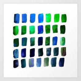 Brushstrokes 1zd by Kathy Morton Stanion Art Print