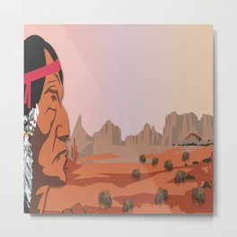 Land Of The American Natives No. 1 Metal Print