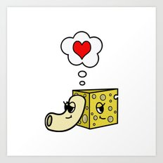 Mac -N- Cheese Love Art Print