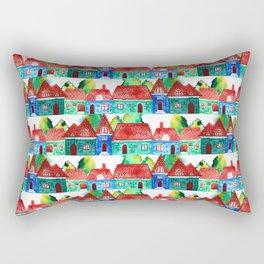 Watercolor houses Rectangular Pillow