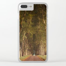 Warm French Tree Lined Country Lane Clear iPhone Case
