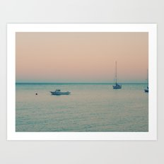 The sea is calling Art Print