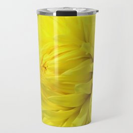 Glowing Yellow Dahlia Travel Mug