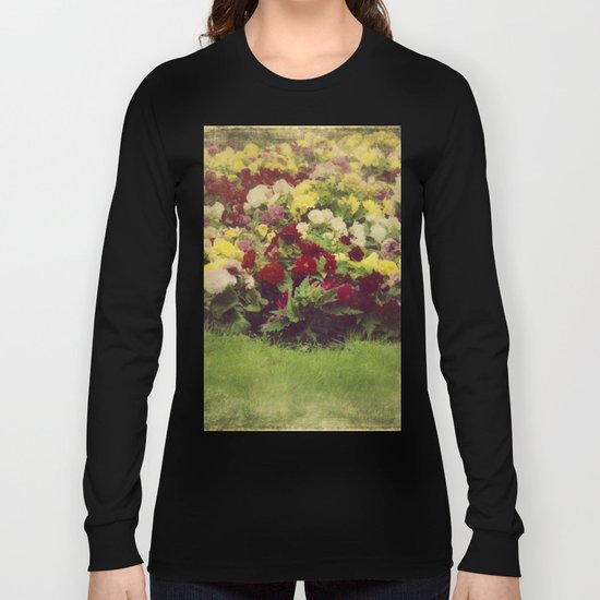 Vintage Pretty Flowers Long Sleeve T-shirt