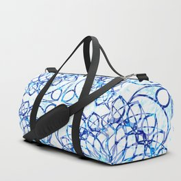 Blue Boho Chic Pattern Duffle Bag