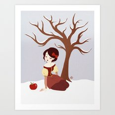 Skin White as Snow Art Print