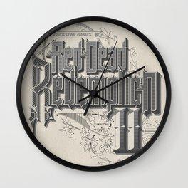Red Dead Wall Clock
