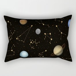 Coffee in Space 3 Rectangular Pillow