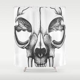 Rare Persian Smilodon Skull. Shower Curtain