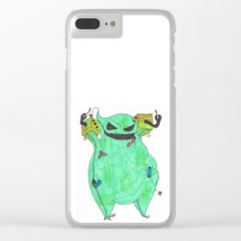 Gambling Oogie Boogie man Clear iPhone Case