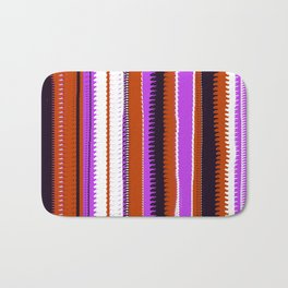 Rust and Purple Indian Blanket Design Bath Mat