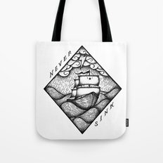 NEVER SINK Tote Bag