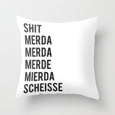 SHIT Throw Pillow