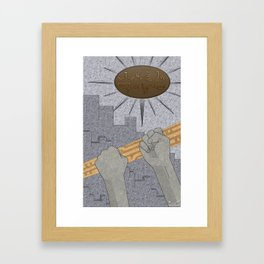 All Barriers Crumble and Fall - (Artifact Series) Framed Art Print