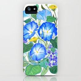 Morning Glory Ikebana iPhone Case