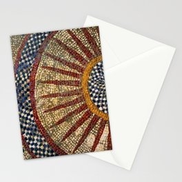 Ancient Roman Tesserae Sun Gems, Glass, & Stone Mosaic Tile Relief Stationery Cards