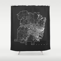 sydney Shower Curtains featuring SYDNEY by Nicksman