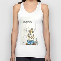 toilet Tank Tops featuring Toilet Crisis by Dino
