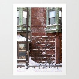 Snowy Bike Art Print