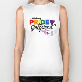 This Is My Pride Girlfriend (R) Biker Tank