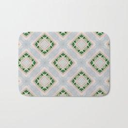 Cute Diamond Beadwork Print Bath Mat