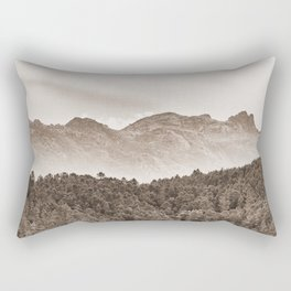 The mountain beyond the forest Rectangular Pillow