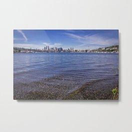 Lake Union and Seattle Skyline Metal Print