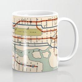 Vintage NYC Subway Map (1918) Coffee Mug