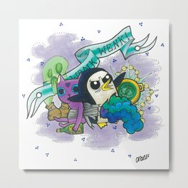 Unleash the Gunter Metal Print