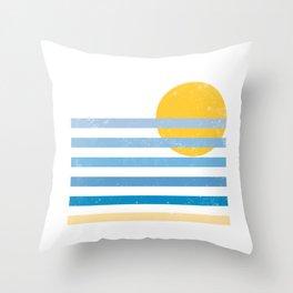 Sunset Ocean Throw Pillow