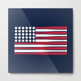 USA Baseball Flag Metal Print