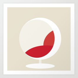 Ball Chair by Eero Saarinen Art Print