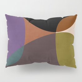 mid century abstract geometric autumn 2 Pillow Sham