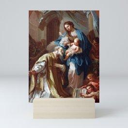 Sebastiano Conca The Madonna Appearing to St. Philip Neri Mini Art Print