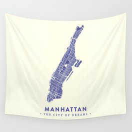 Manhattan Map NYC Wall Tapestry