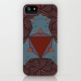 Triangle Cat Mandala iPhone Case