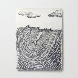 Narwhale Metal Print