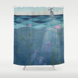 The Deep Blue Shower Curtain