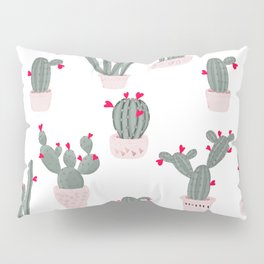 Love in the Desert Cacti Pattern Pillow Sham