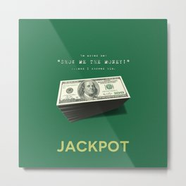 Show Me The Money - USD Casino Jackpot  Metal Print