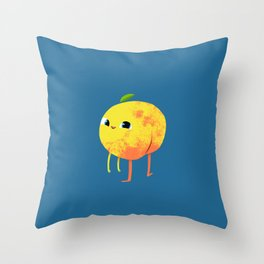 Peachy Cheeks Throw Pillow