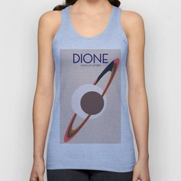 Dione -  Moon of Saturn Unisex Tank Top