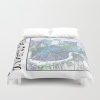 new orleans Duvet Covers featuring New Orleans by Catherine Holcombe