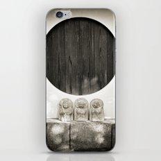 Jizo in Black and White, Kyoto iPhone & iPod Skin
