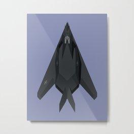 F-117 Nighthawk Stealth Jet Aircraft - Twilight Metal Print