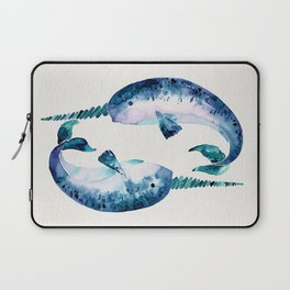 Blue Narwhals Laptop Sleeve